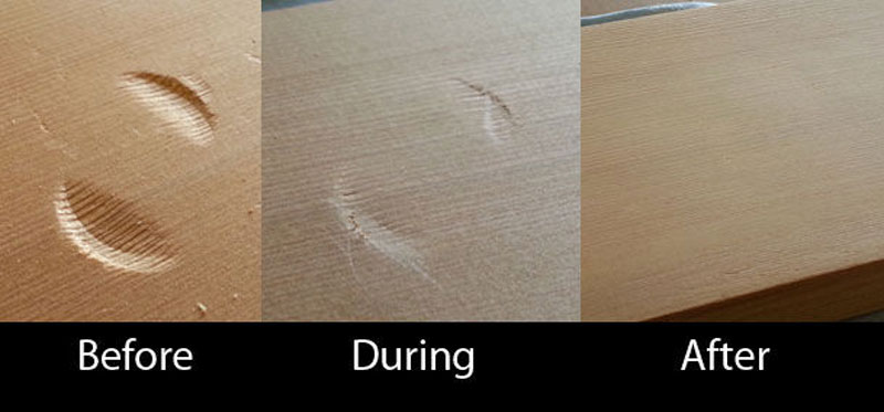 how to remove a dent from wood with an iron (6)