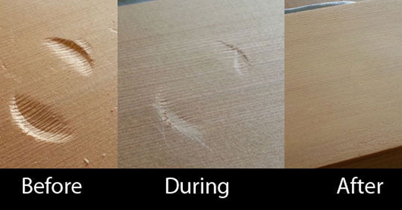 Remove Dents from Wood with anIron