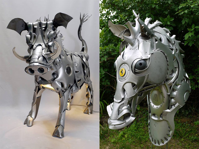 hubcap animal sculptures by ptolemy elrington (5)