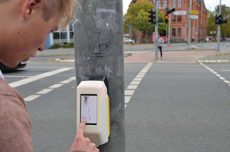 In Germany You Can Play Pong While Waiting for the Light to Change