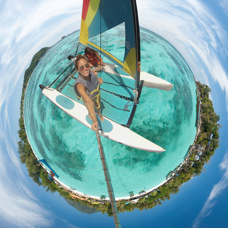 Picture of the Day: Sailing Through a Tiny PlanetPanorama