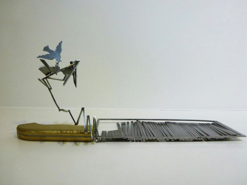 sculptures cut from the blades of knives li hongbo (2)