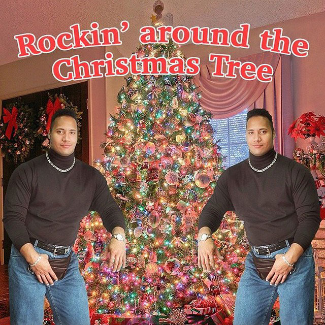 Picture of the Day: Merry Christmas from The Rock