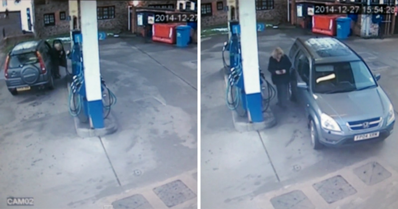 This Woman Can't Figure Out How to Line Up Her Gas Cap with the GasPump