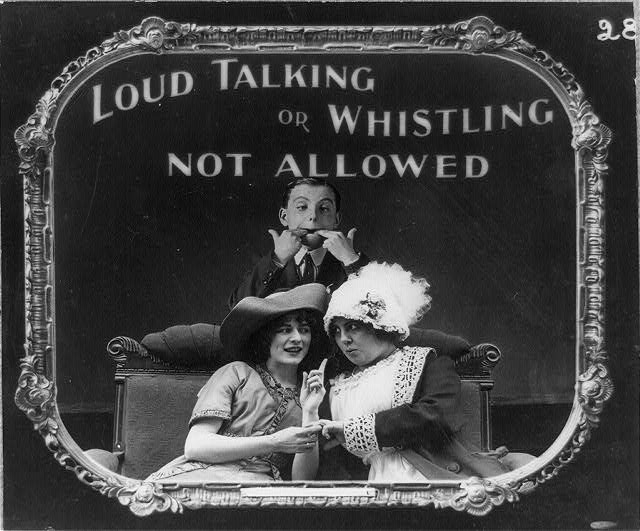 14 Vintage Movie Theatre Etiquette Posters from 1912 (8)