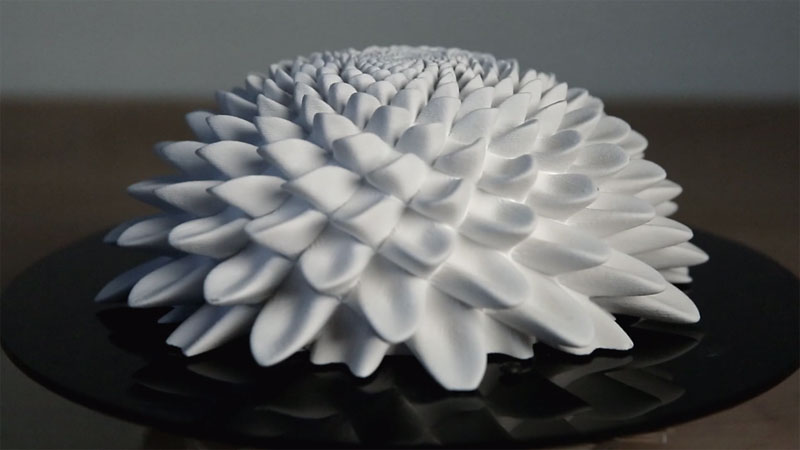 3D Printed Fibonacci Zoetrope Sculptures by JohnEdmark