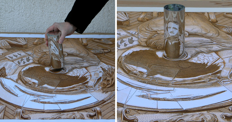 These Artworks Come to Life When You Place a Mirror On It