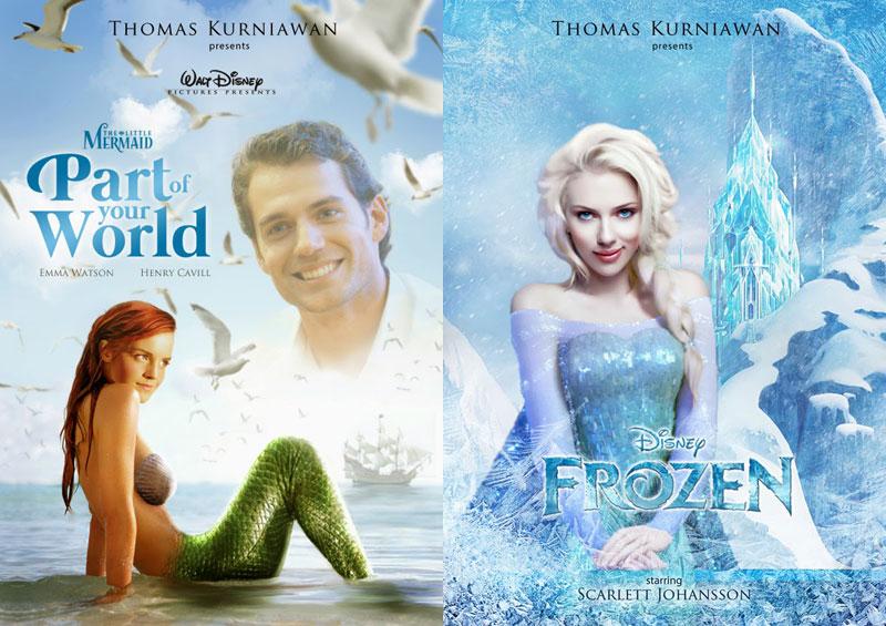 Artist Imagines 14 Celebrities as Real-Life DisneyCharacters
