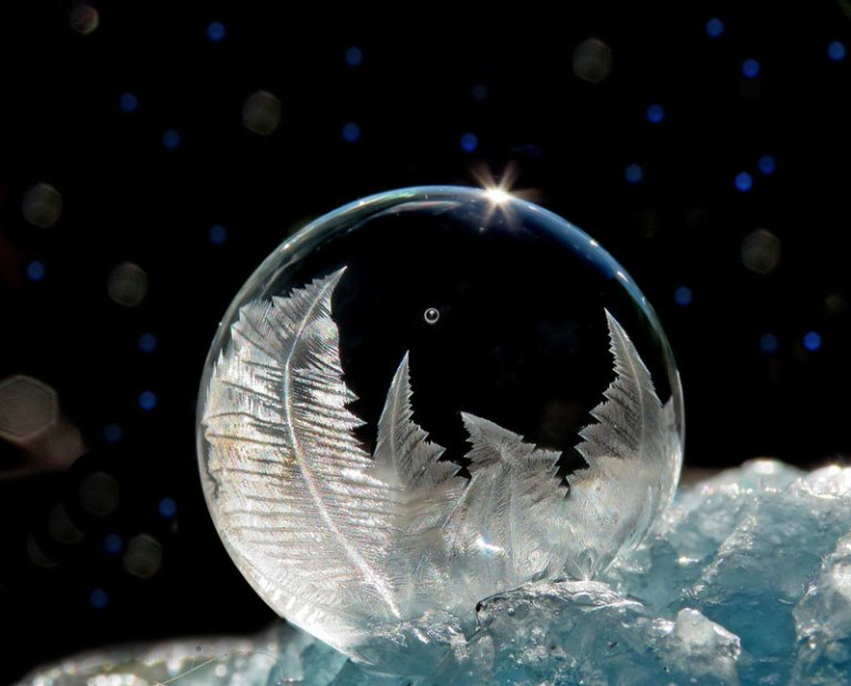 Blowing Soap Bubbles in Cold Weather