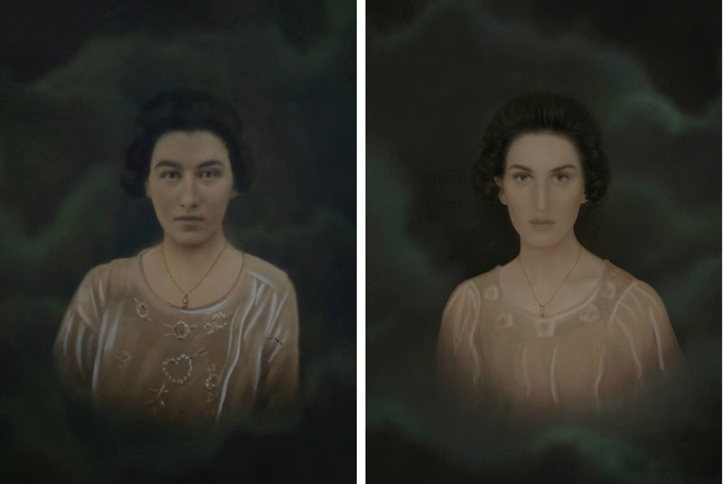 christine mcconnell Recreates Six Generations of Family Portraits Dating Back 200 Years (4)