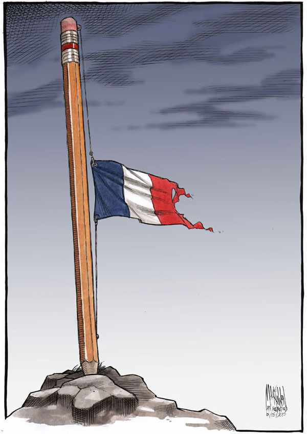 comics in memory of charlie hebdo 3 Artists Around the World Respond to the Charlie Hebdo Attack in the Best Way Possible