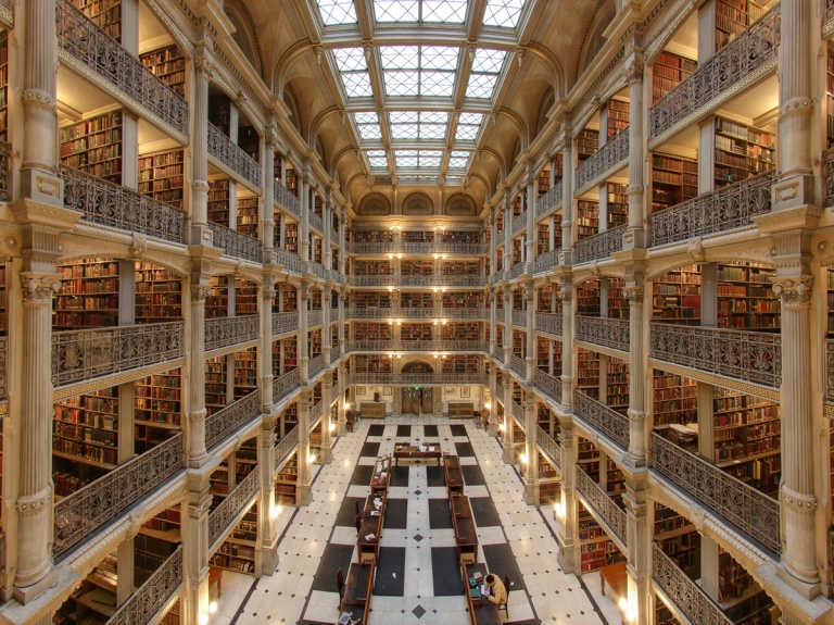 George-peabody-library interior john hopkins university