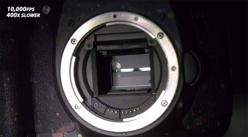 Seeing How a Camera Shutter Works at 10,000 FPS