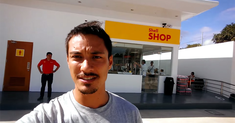 Guy Stumbles Across a Luxury Bathroom at a Shell Station in the Philippines