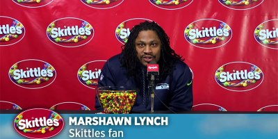 Marshawn Lynch Stiffs Reporters but Gives Skittles the Best Press ConferenceEver