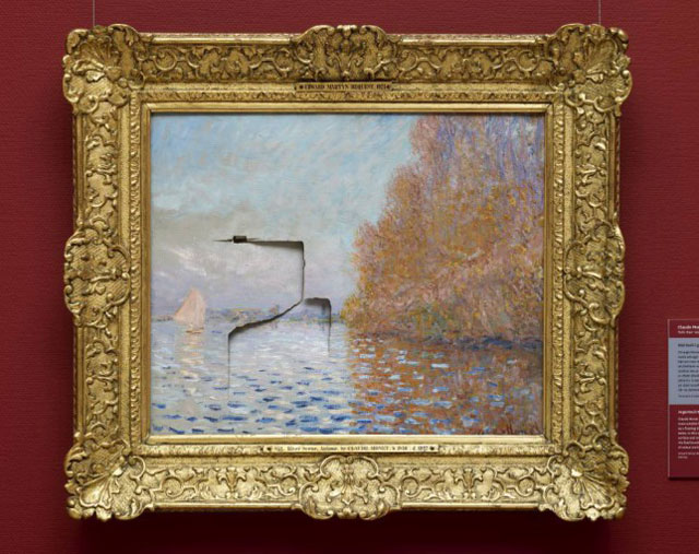 Repairing a monet After It Has Been Punched (1)