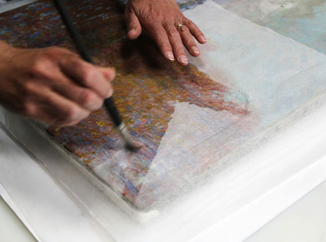 Repairing a monet After It Has Been Punched (3)