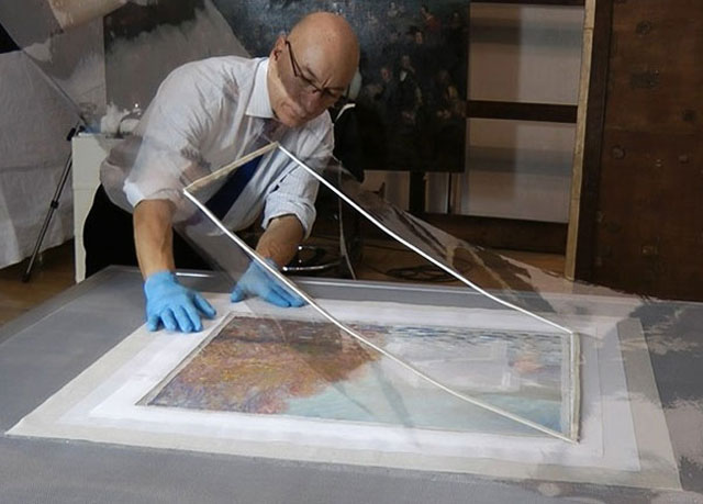 Repairing a monet After It Has Been Punched (7)