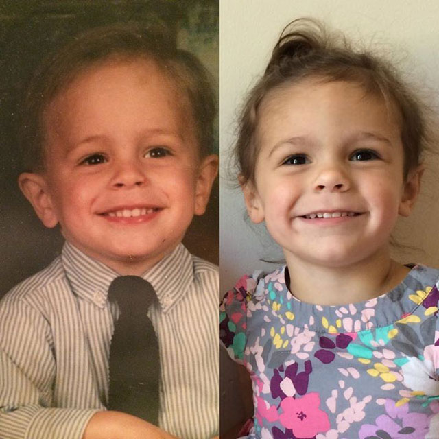 Side by Side Photos of Parents and their Kids at the Same Age (11)