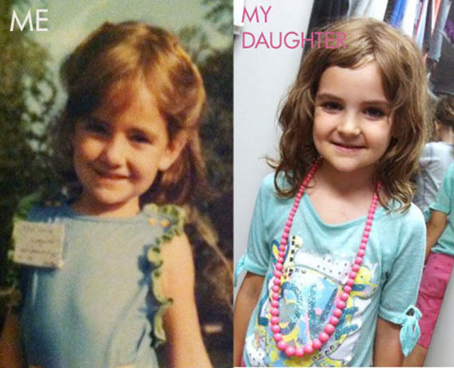 Side by Side Photos of Parents and their Kids at the Same Age (14)