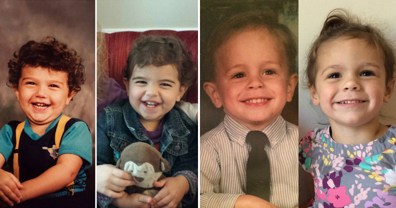 Side by Side Photos of Parents and their Kids at the Same ...