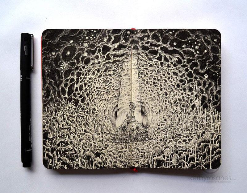 The Amazing Moleskine Sketchbook of Kerby Rosanes