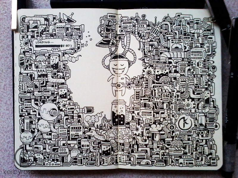 The amazing moleskine sketchbook of kerby rosanes for Kerby rosanes