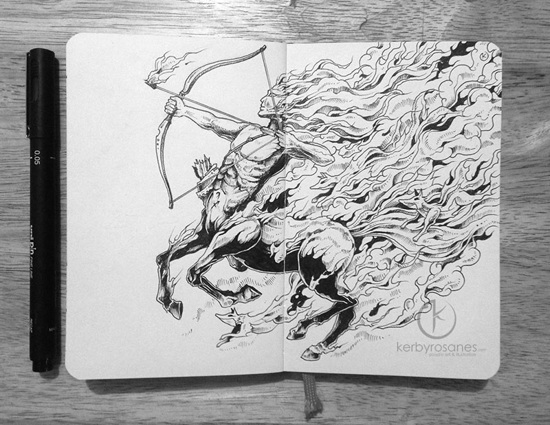 The Amazing Moleskine Sketchbook Of Kerby Rosanes 4