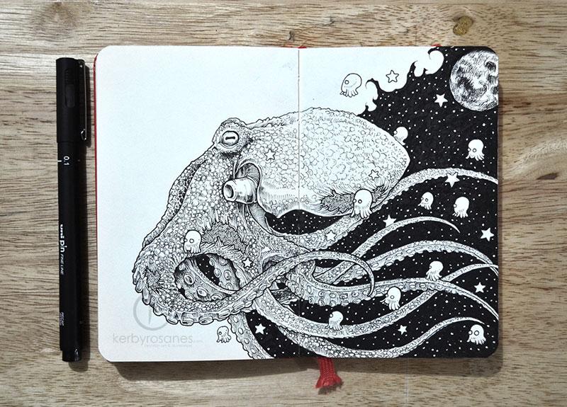 The Amazing Moleskine Sketchbook of Kerby Rosanes (5)