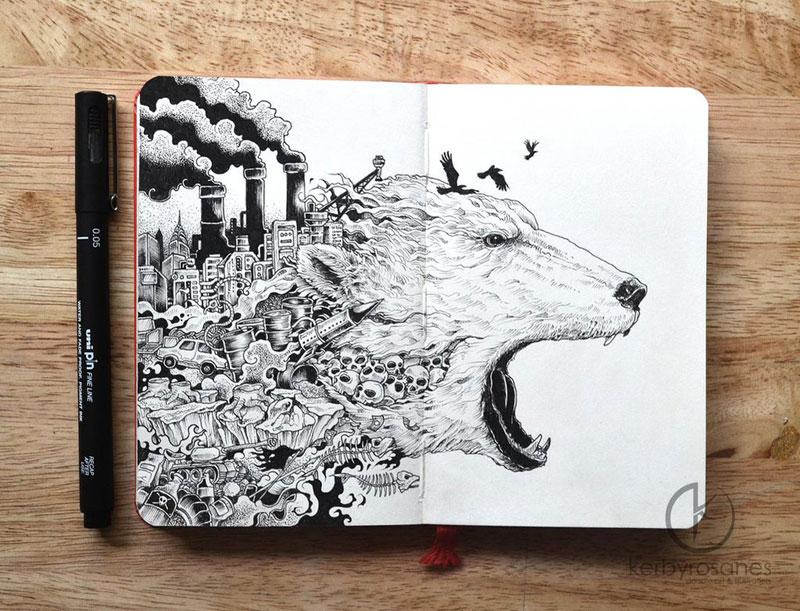 The Amazing Moleskine Sketchbook of Kerby Rosanes (9)
