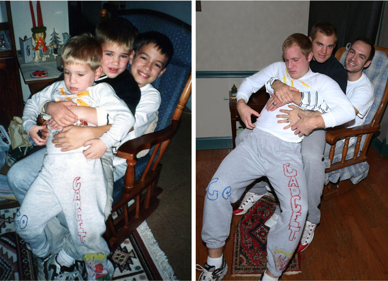 Three Brothers and their Dad Make a Calendar of Recreated Photos for Mom (10)