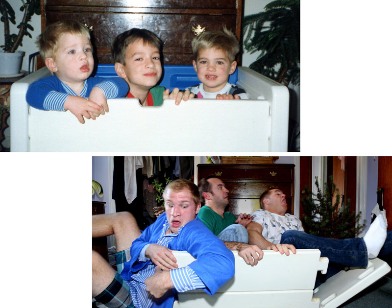 Three Brothers and their Dad Make a Calendar of Recreated Photos for Mom (12)