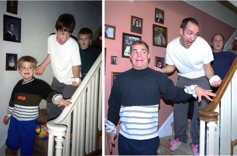 Three Brothers and their Dad Make a Calendar of Recreated Photos for Mom (13)
