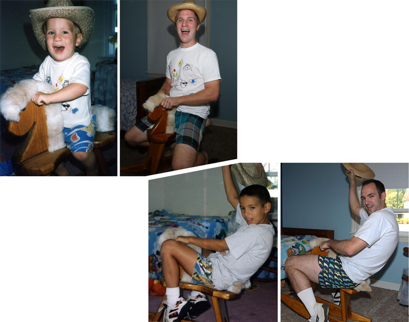 Three Brothers and their Dad Make a Calendar of Recreated Photos for Mom (3)