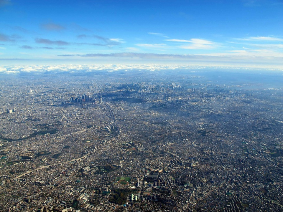 tokyo aerial from above sprawl The Top 50 Pictures of the Day for 2015