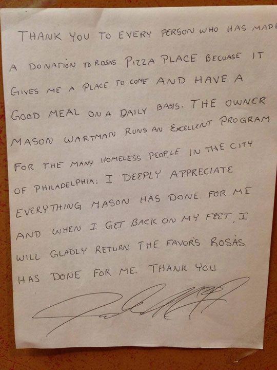 Wall Street Banker Quits to Open $1 Pizza Joint, Customers Pay It Forward to Feed Homeless (10)