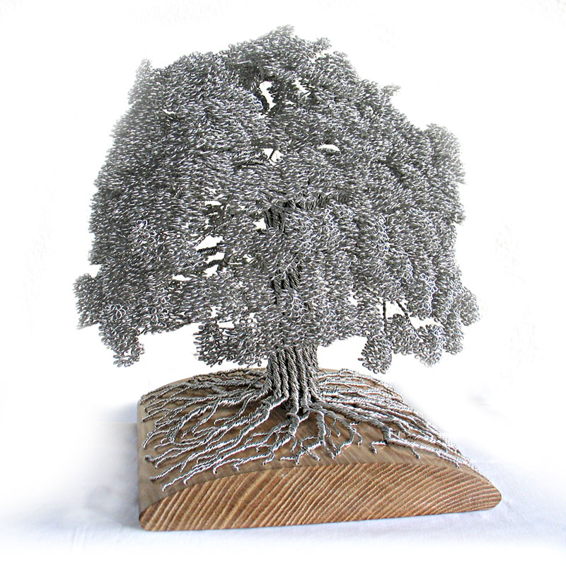 how to make a wire sculpture tree