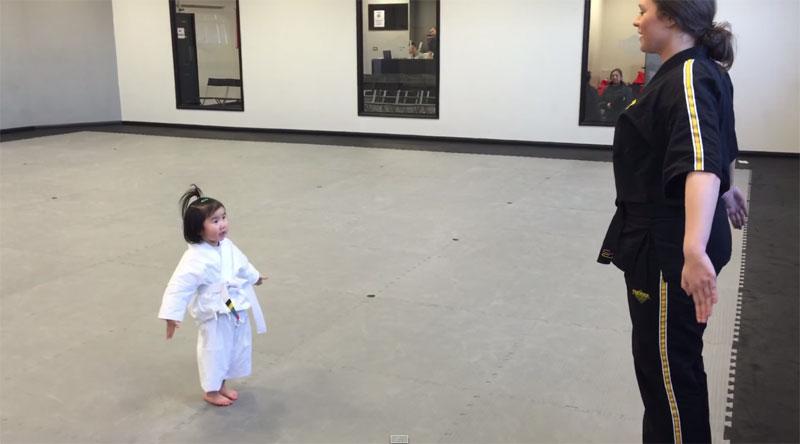 3 Year Old White Belt Recites the Karate StudentCreed
