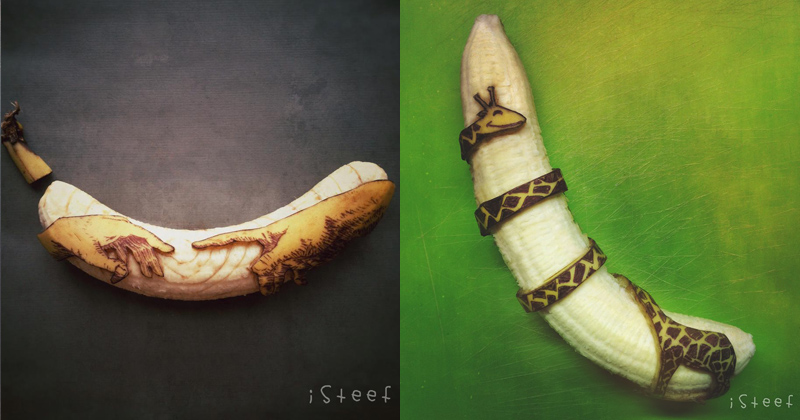 This Artist Uses Bananas as his Canvas