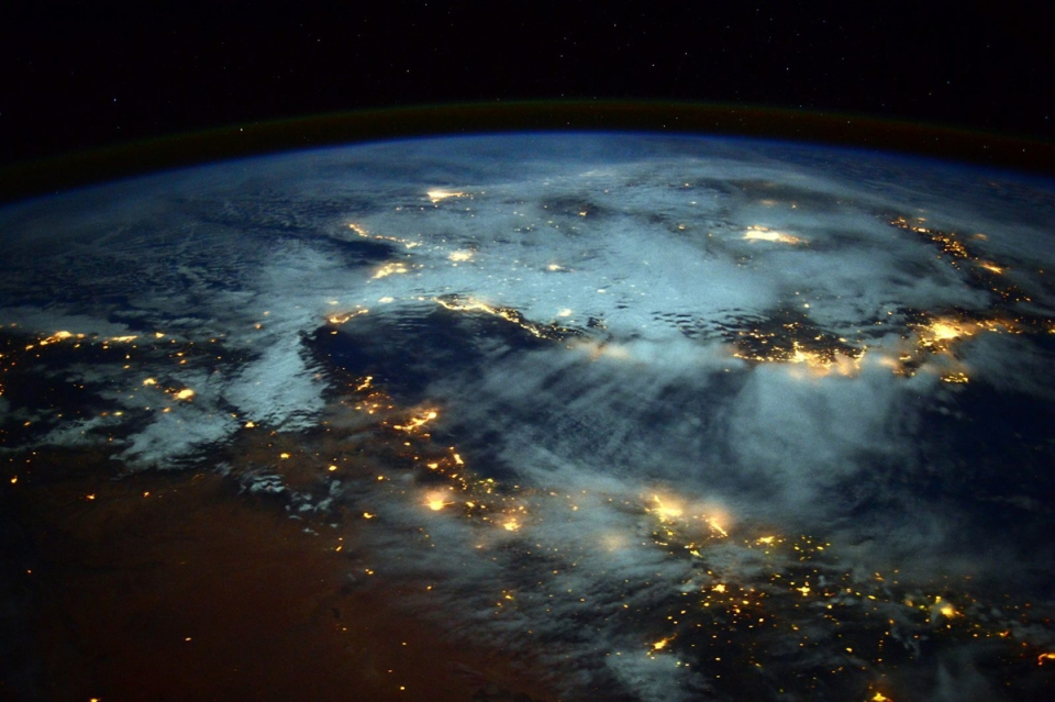 earth at night from space iss nasa barry wilmore