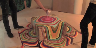 Hypnotic Time-Lapse Shows Psychedelic Result of Paint Poured OntoBlocks