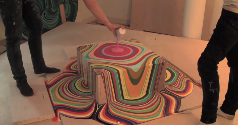 hypnotic timelapse of paint pouring Artist Finds Beautiful Beach Stones and Covers Them in Tiny Dots of Paint