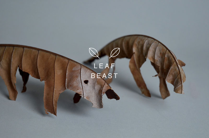 Leaf Beasts: Animal Sculptures Made from Dried MagnoliaLeaves