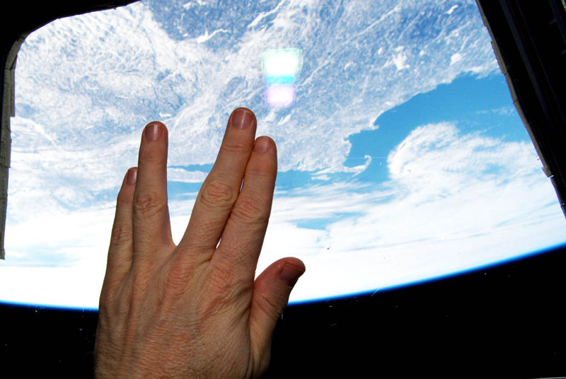 live long and prosper from iss space nasa The Top 50 Pictures of the Day for 2015