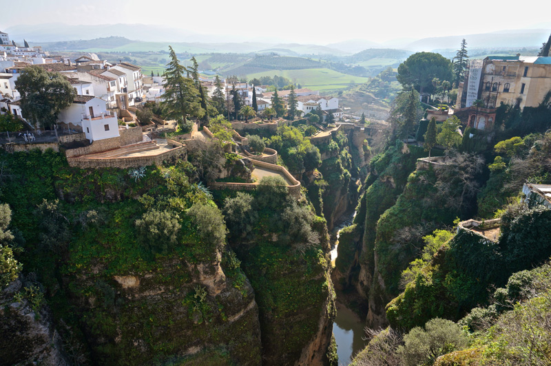 river running through ronda spain The Top 25 Pictures of the Day for 2015