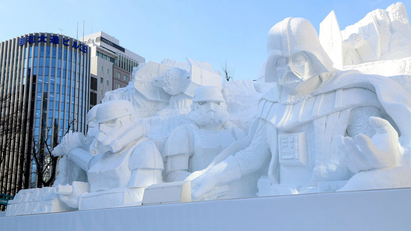 star wars darth vader snow sculpture japan 2 Suntory Whisky CNC Mills 24 of the Coolest Ice Cubes Ever