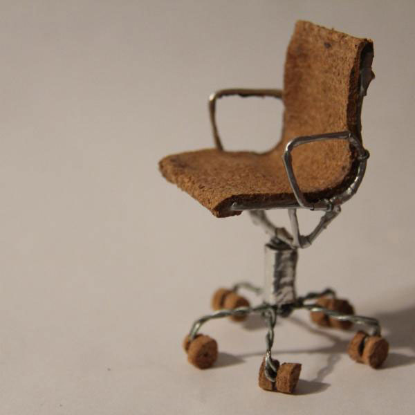 17 miniature chairs made from champagne corks twistedsifter