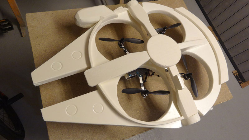 This Guy Built a Millennium Falcon Quadcopter and It's Awesome (14)