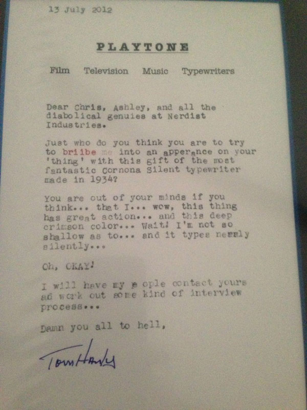 20 amazing letters worth reading twistedsifter tom hanks typewriter letter nerdist 20 amazing letters worth reading thecheapjerseys Image collections