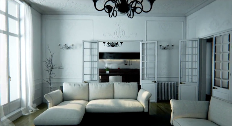 It Looks Like a Real Home, Only It's a Video Game Engine Rendering the Scene in RealTime